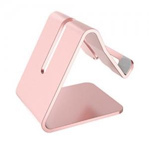 Univerzální hliníkový stojan na telefon - barva růžová