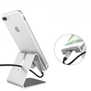 Univerzální hliníkový stojan na telefon - nabíjení
