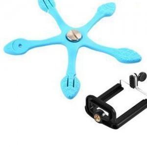 stativ a držák na mobil - Octopus - držák mobilu 2 modrý