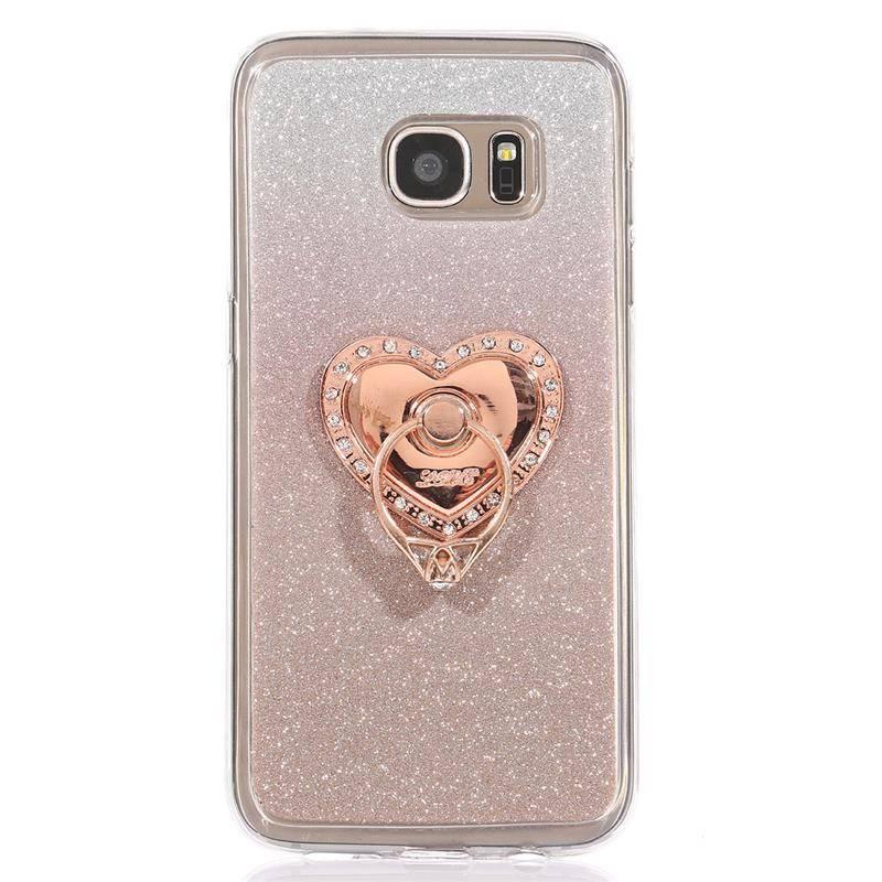 Ozdoba na mobil – LOVE Růžová – bílé kameny