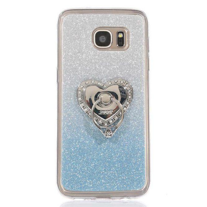 stříbrný prsten LOVE bílé kameny