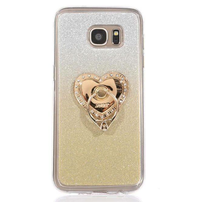 zlatý prsten LOVE bílé kameny