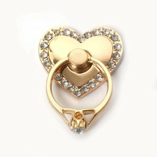 zlatý prsten bíle kameny