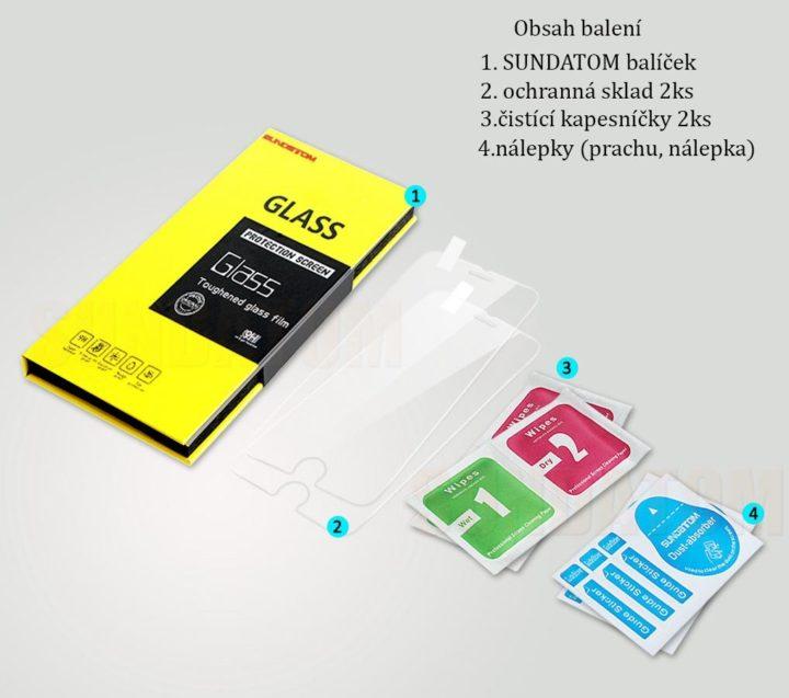 Tvrzené sklo na iPhone 7 obsah balení – popis