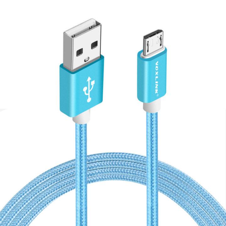 USB kabel Android modrý