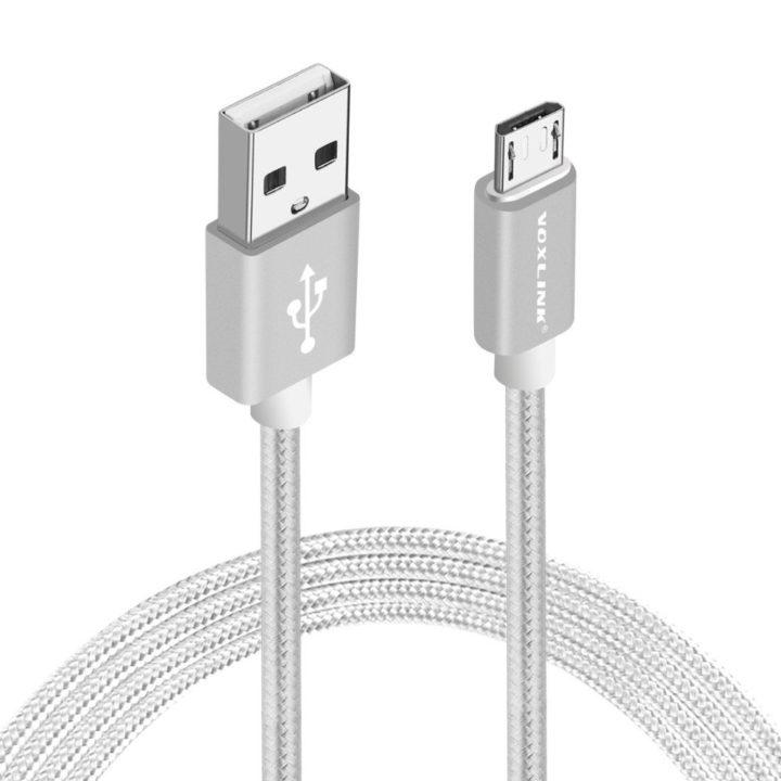 USB kabel Android stříbrný