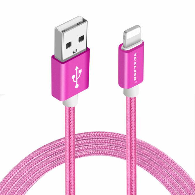 USB kabel iphone červený