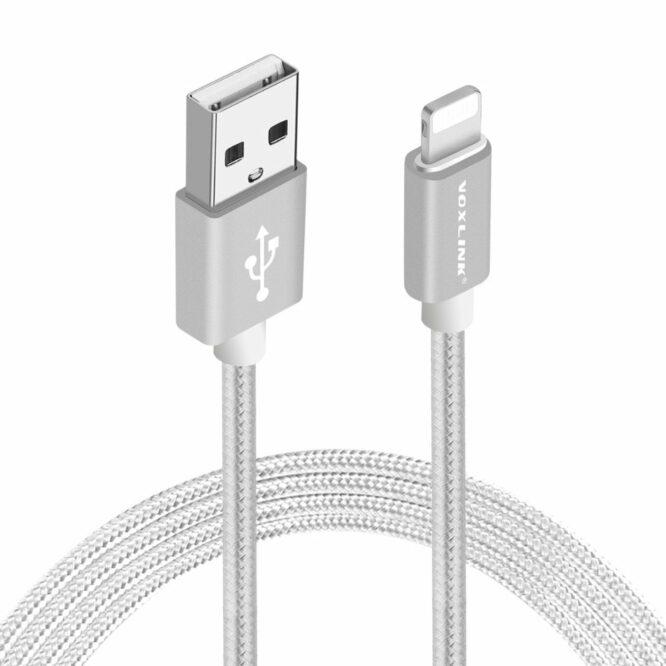 USB kabel iphone stříbrný