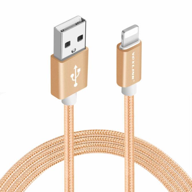 USB kabel iphone zlatý