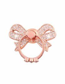ozdobný prsten mašlička růžová