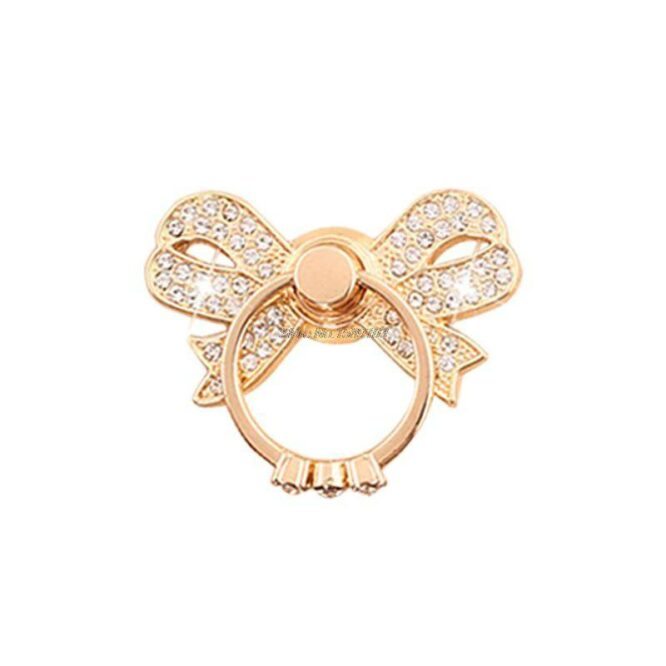 ozdobný prsten mašlička zlatá