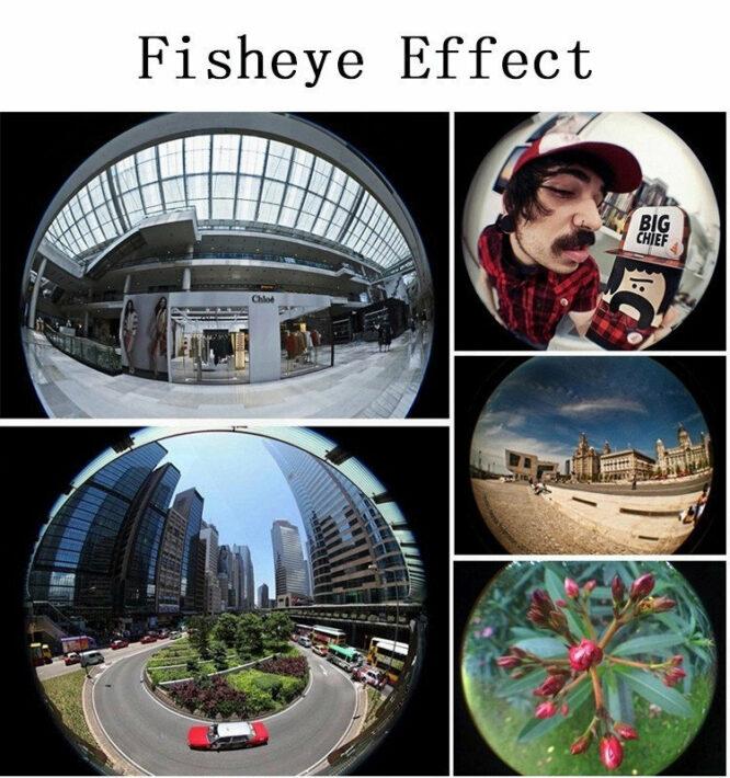 rybí oko efekty