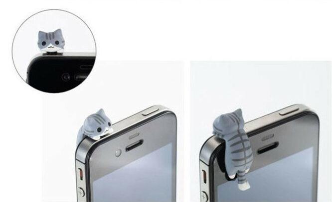 ozdoba na mobil šedá kočka