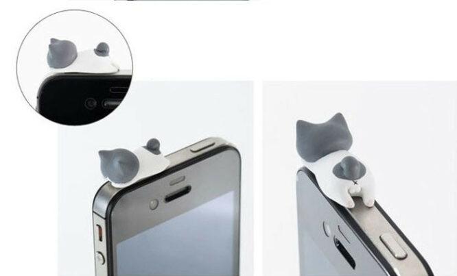 ozdoba na mobil šedobílá kočka