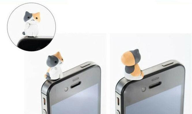 ozdoba na mobil mourovatá kočka