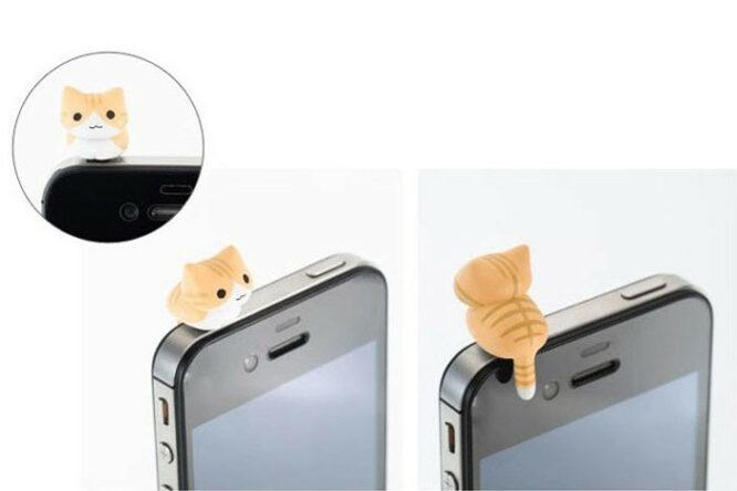 ozdoba na mobil zrzava kočka