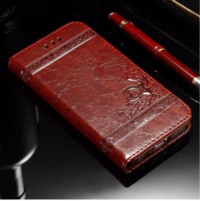 Kožené pouzdro na iPhone 7 červené