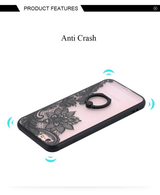 zadní kryt iphone čená květina