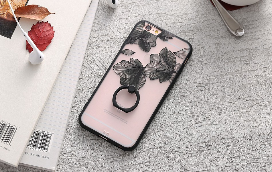 Ozdobný zadní kryt s krajkou na iPhone 6/6s