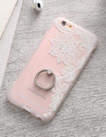 zadní kryt iphone bílá květina