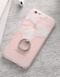 zadní kryt iphone bílé květinové listy