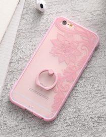 zadní kryt iphone růžová květina