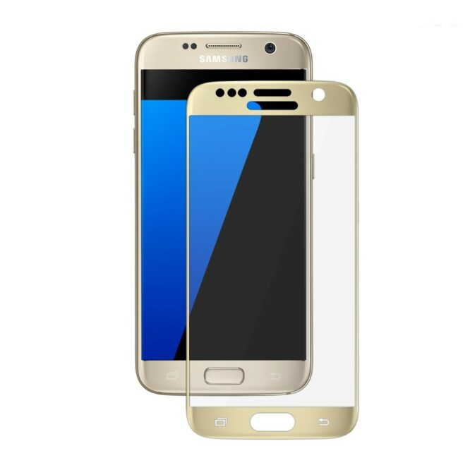 tvrzené sklo Galaxy S7 zlatý rámeček