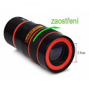 Optický teleskopický objektiv - zaostření