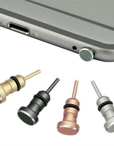 Prachový konektor - kryt Jacku kovový - šedá