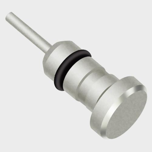 Prachový konektor - kryt Jacku kovový - stříbro
