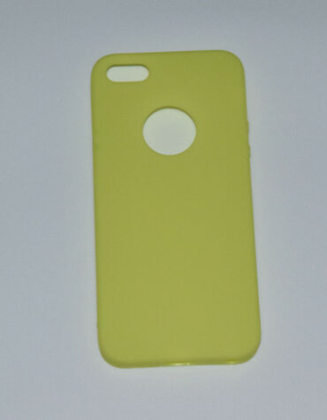 Silikonové pouzdra pro iPhone_žluté