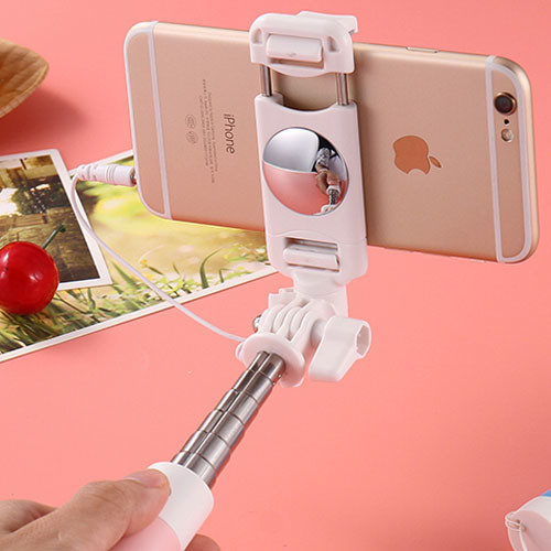 Mini selfie tyč se zrcátkem