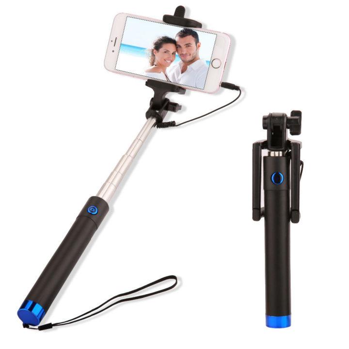 selfie tyč modrá