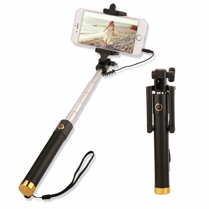 selfie tyč zlatá