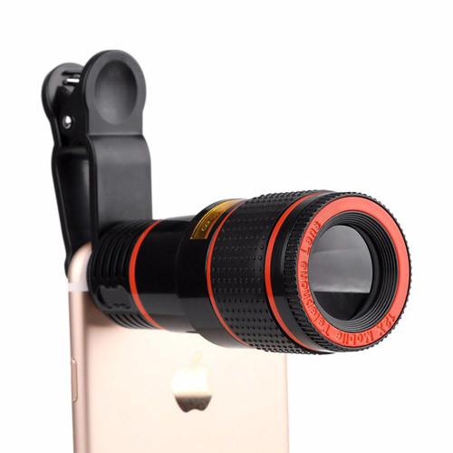 teleskopický objektiv na mobil 12x zoom_na telefonu