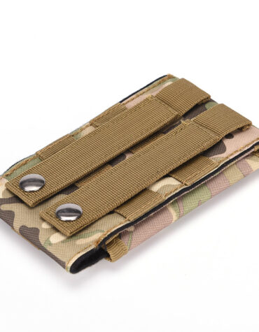 Armádní pouzdro na opasek pro displej 5,7 - maskáčová zezadu