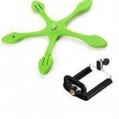 stativ a držák na mobil - Octopus - držák mobilu 2 zelený