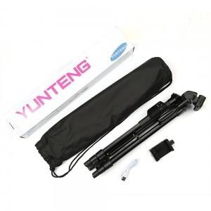 Stativ na mobil 125cm - YUNTENG VCT-5208RM - obsah balení