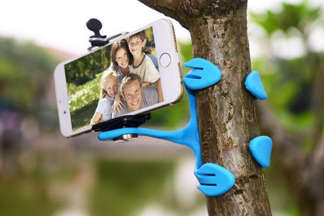 stativ a držák na mobil - Octopus - držák mobilu 3