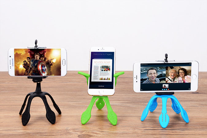 stativ a držák na mobil – Octopus – varianty