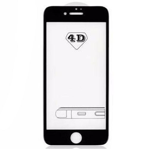 4D Tvrzené sklo na iPhone 8 s rámečkem tvrdost 9H černá