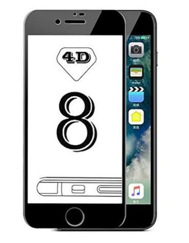 4D Tvrzené sklo na iPhone 8 s rámečkem
