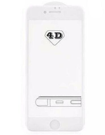 4D Tvrzené sklo na iPhone 8 s rámečkem tvrdost 9H