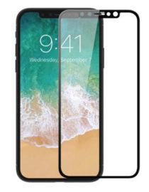 4D Tvrzené sklo na iPhone X s rámečkem tvrdost 9H černá