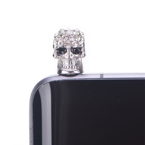 Ozdoba na mobil prachová zástrčka Lebka - ukázka 2