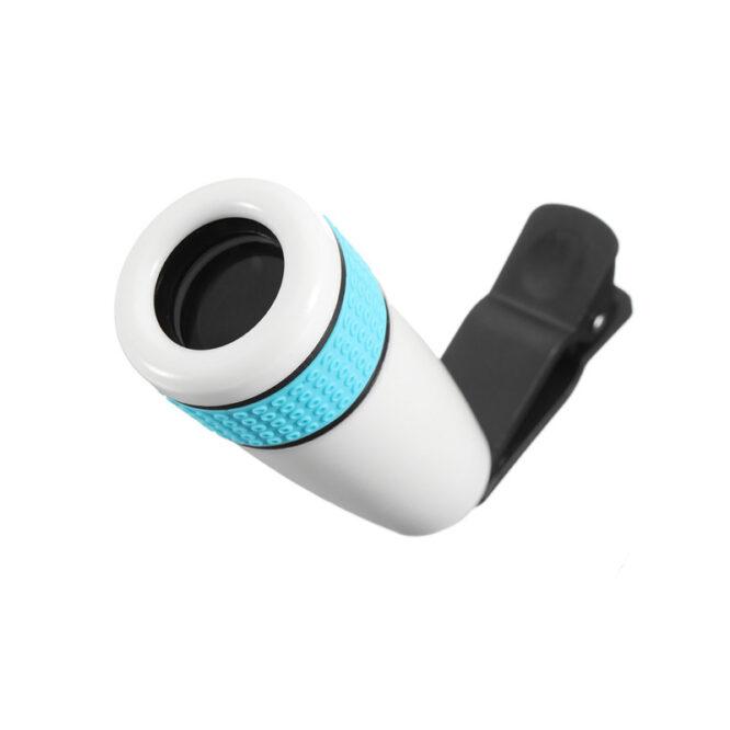 Teleskopický objektiv na mobil 12x zoom - bílý