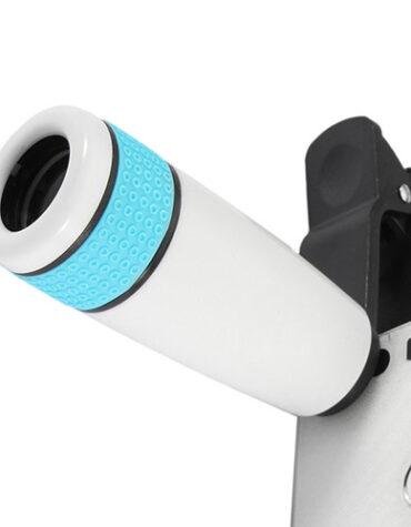 Teleskopický objektiv na mobil 12x zoom zepředu