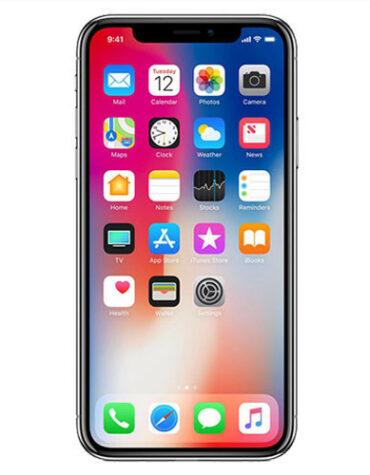 Tvrzené sklo na iPhone X čelní pohled se sklem