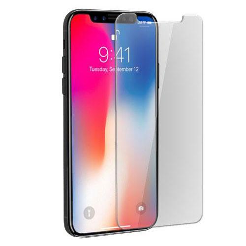 Tvrzené sklo na iPhone X - boční pohled