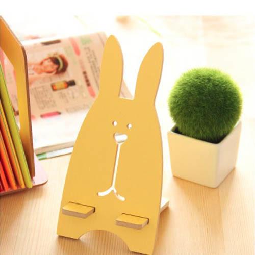 držák na mobil - zajíc žlutý